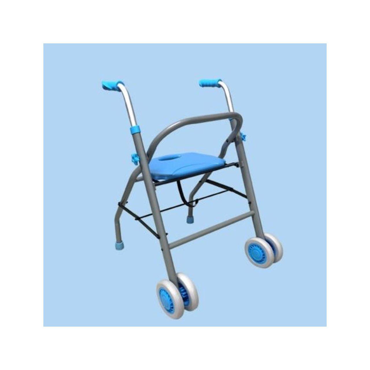 Käimisraam istmega, 2-rattaline